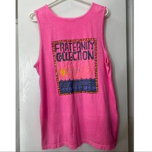 Fraternity collection Pink Comfort colors Tank top